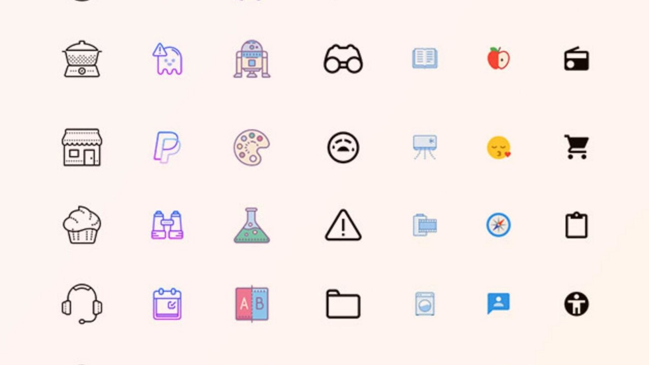 Icons of all shapes, sizes, moods, and colors — get them for a lifetime