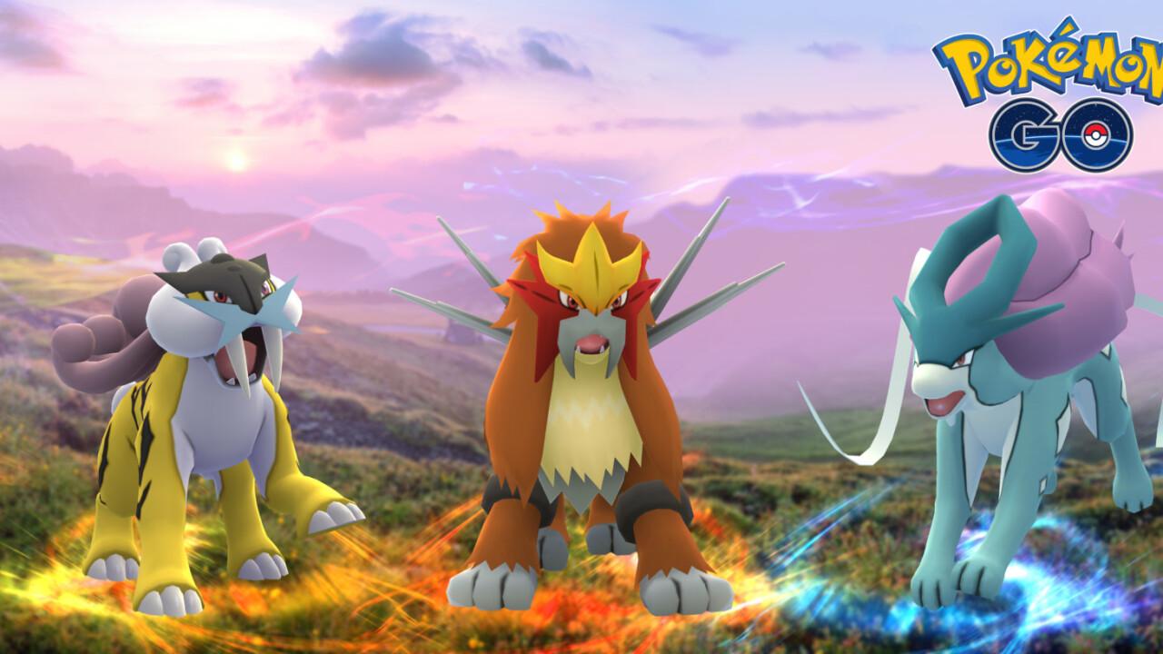 Pokémon Go introduces three new Johto legendary pokemon