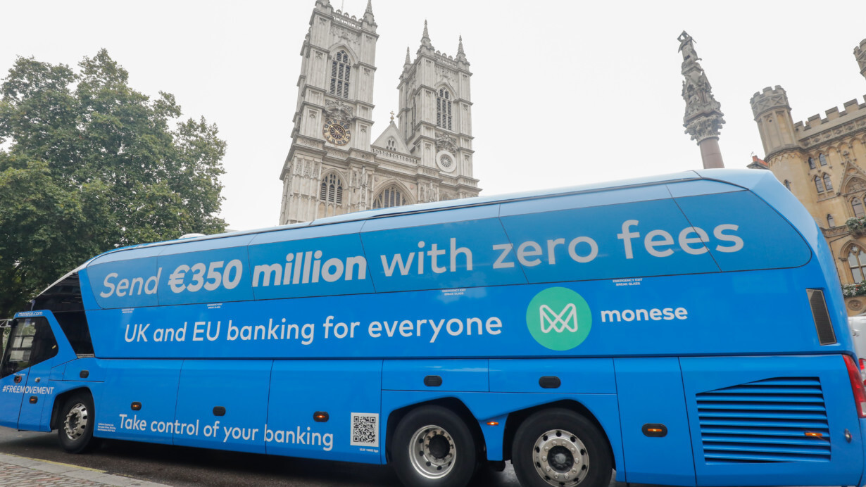 The infamous Brexit Bus is now being used to promote a fintech startup