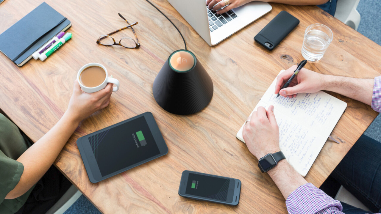 This wireless charger promises to juice up your phone from a foot away
