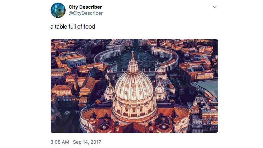 Watch Microsoft's AI suck at captioning gorgeous city landscapes on Twitter
