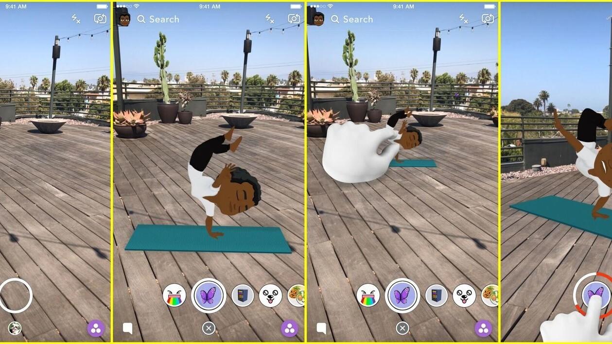 Snapchat's new AR Bitmoji are like the millennial's take on Roger Rabbit's world