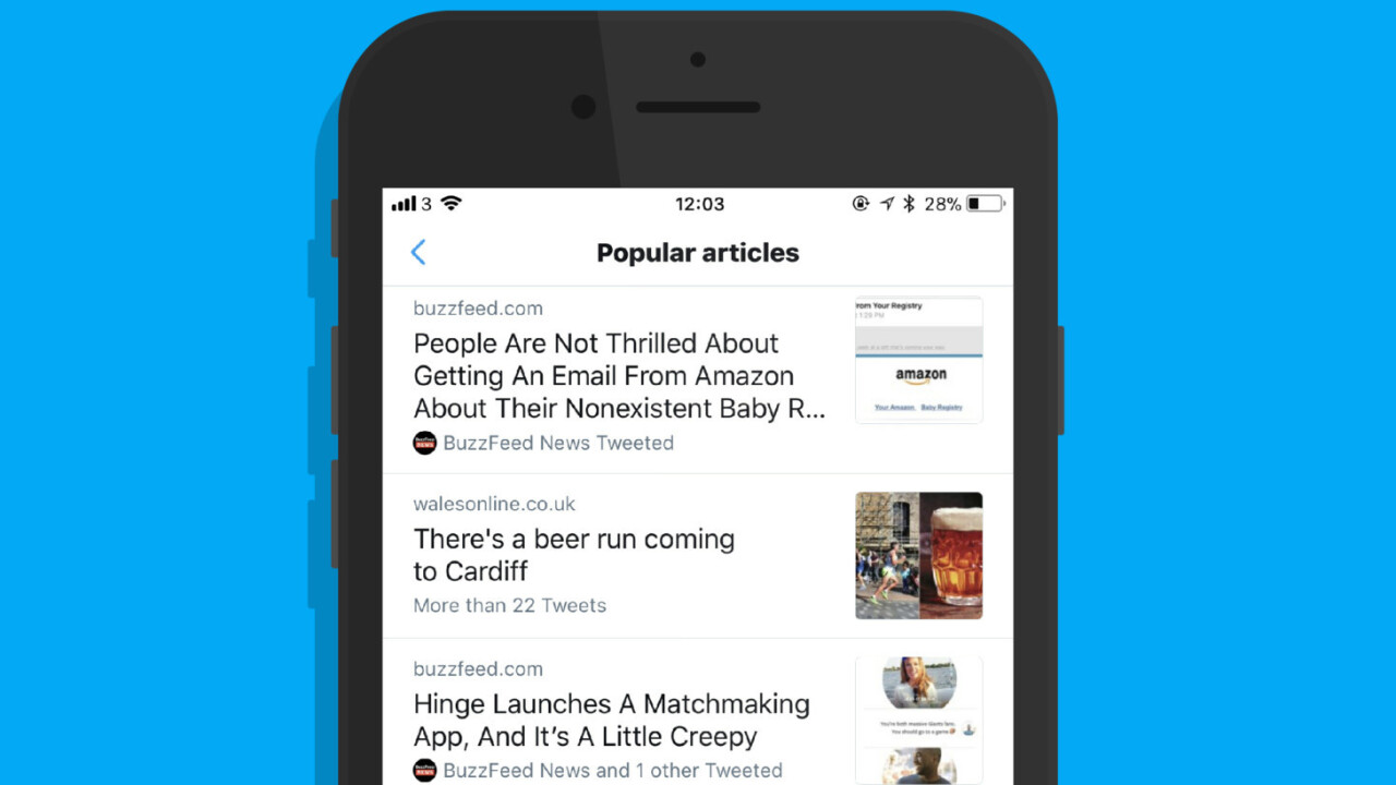 Twitter lurkers will love its new Popular Articles feature