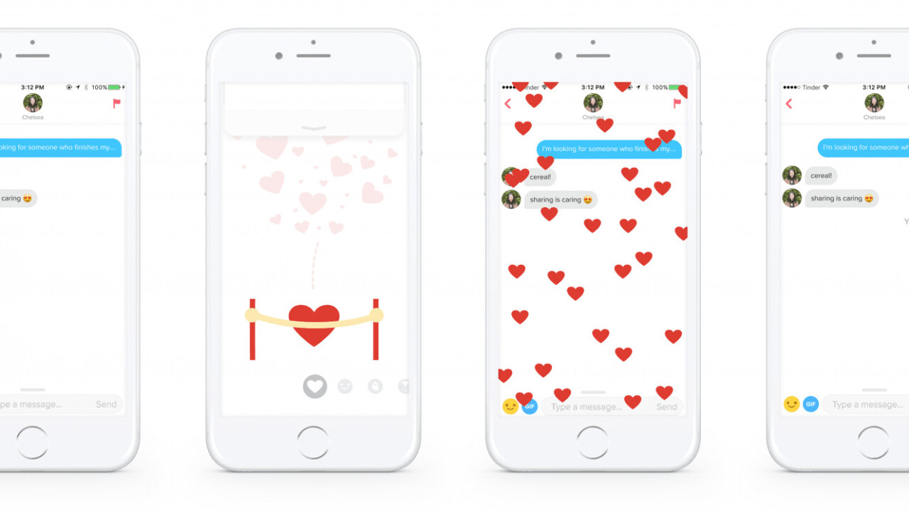 Tinder Reactions bring animated flirtations to your shallow conversations