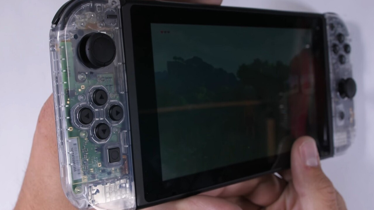 YouTuber makes beautiful, transparent Nintendo Switch — and you can too
