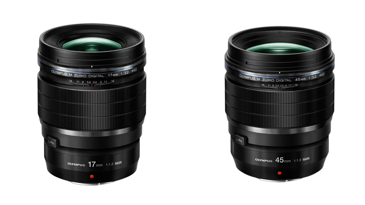 Olympus adds super-fast 45mm and 17mm F1.2 lenses to the micro four-thirds arsenal