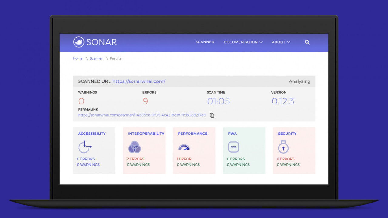 Microsoft's open-source Sonar tool will test your site's performance and security