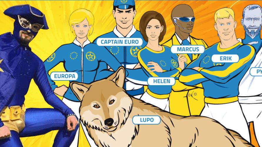 Meet the EU's adorably awkward real-life superhero: Captain Europe