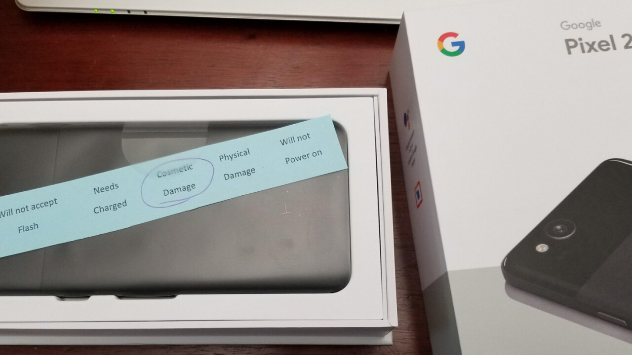 Google negligently sent this user a Pixel 2 unit that failed quality control