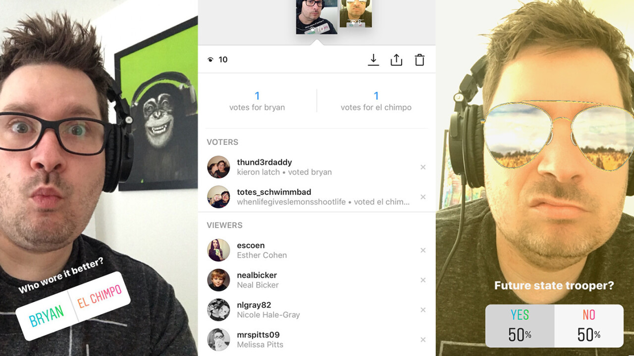 Instagram copies popular Snapchat add-on 'Polly'