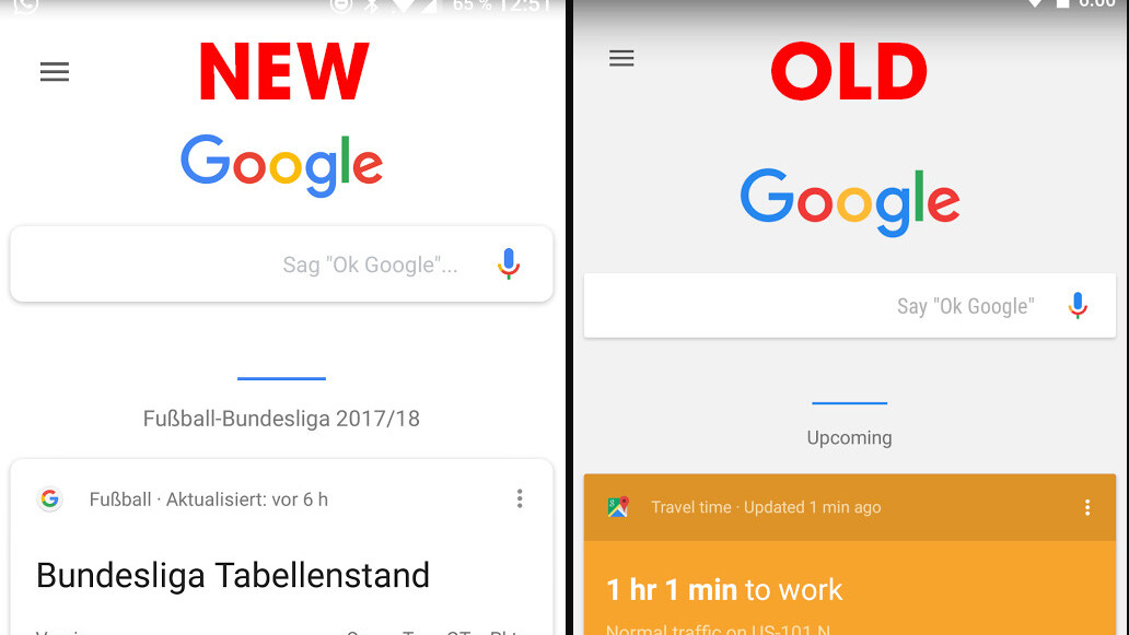 Google is testing an elegant new interface for Google Now