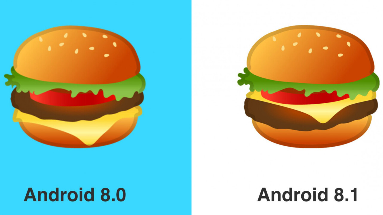 Google is fixing its troubling burger emoji in Android 8.1