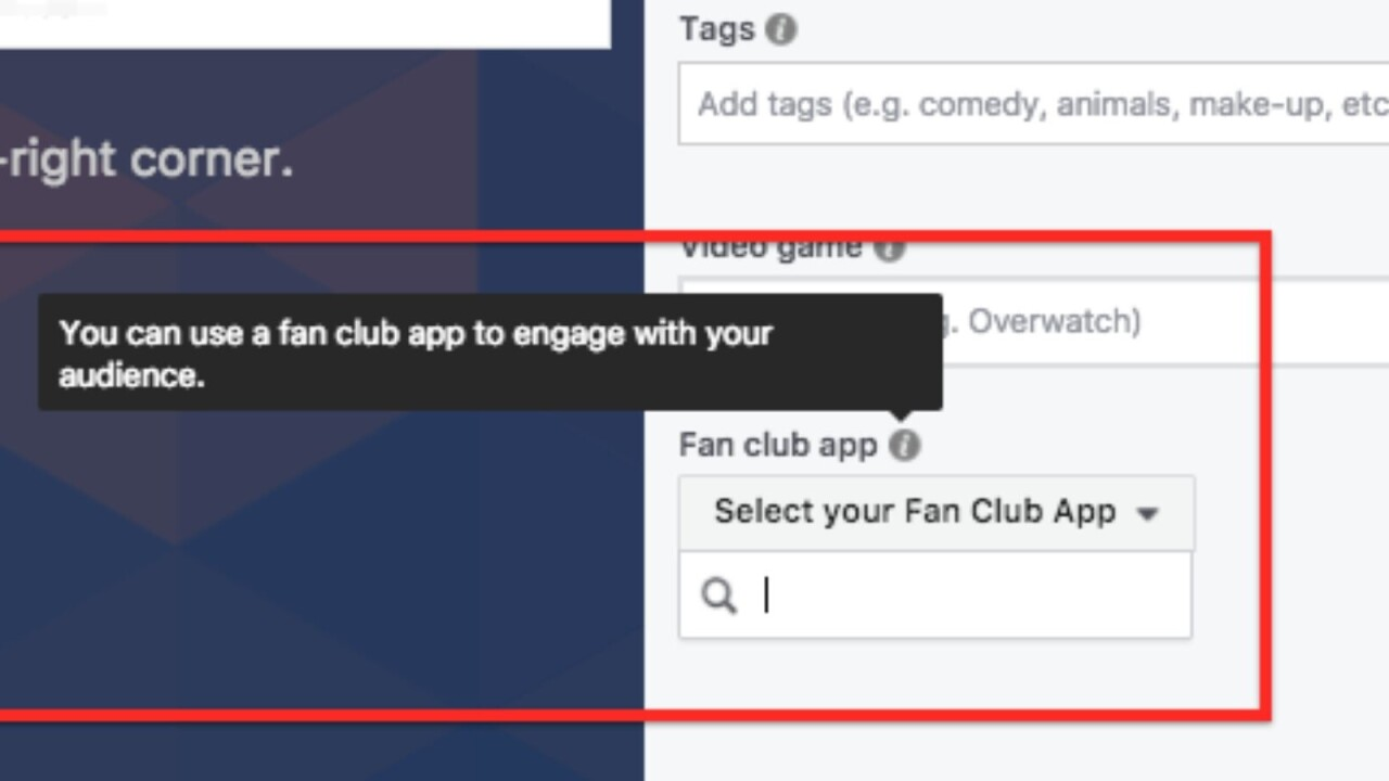 Facebook adds live video Fan Club feature, but you're not cool enough to see it