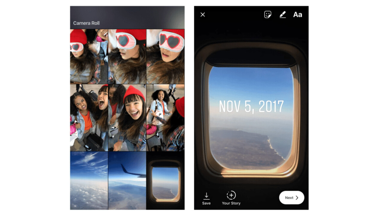 Instagram now lets you upload camera roll items older than 24 hours to your Stories