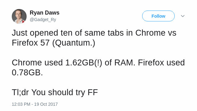 Mozilla's speedy new Firefox Quantum browser drops tomorrow (and it uses way less RAM than Chrome)