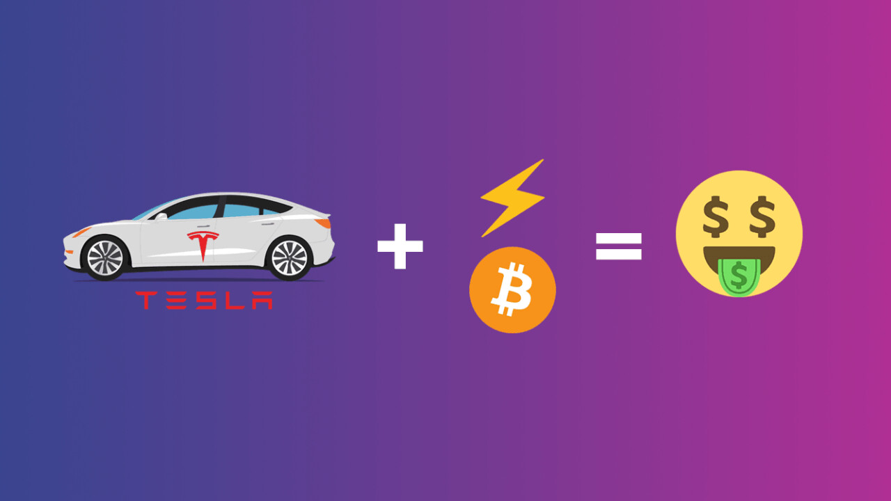 A clever Tesla owner is using his Model S to mine cryptocurrency for free