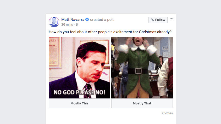 Facebook is about to ruin your feed with tacky animated GIF polls