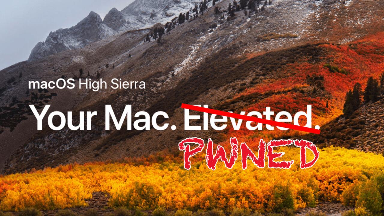 MacOS High Sierra has an embarrassing bug that gives anyone Admin access