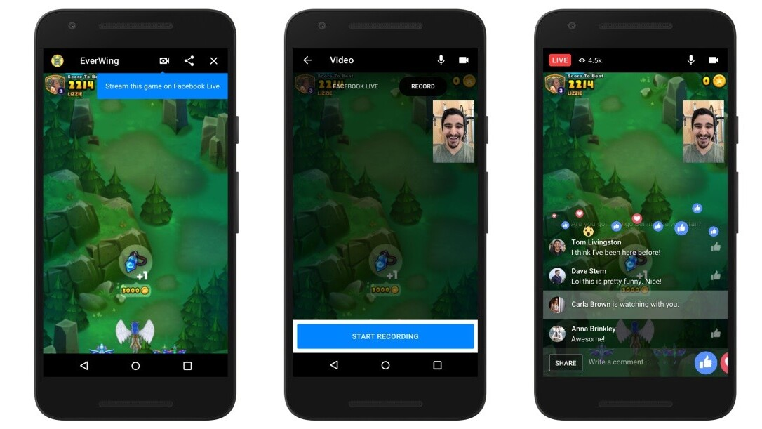 Facebook unveils livestreaming and more for Messenger games