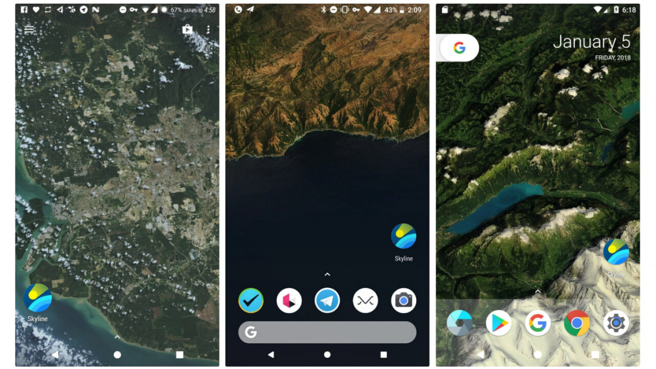 This Android live wallpaper brings you a bird's eye view of your location