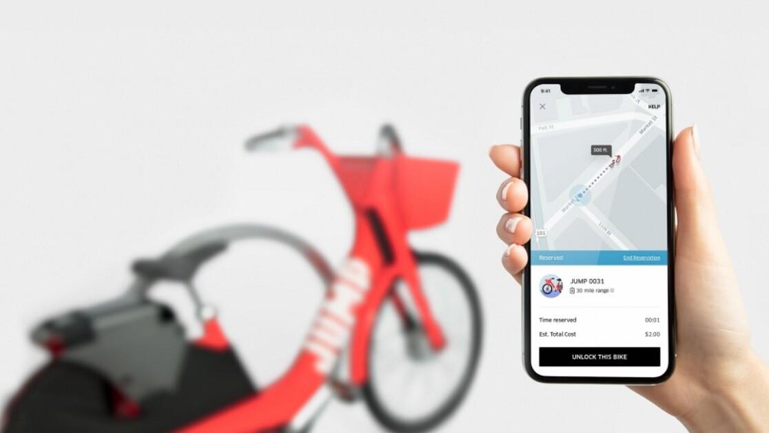 Uber tests dockless bike-sharing option