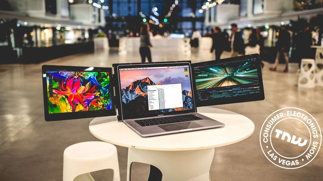 Add two more screens to any laptop with this crazy contraption