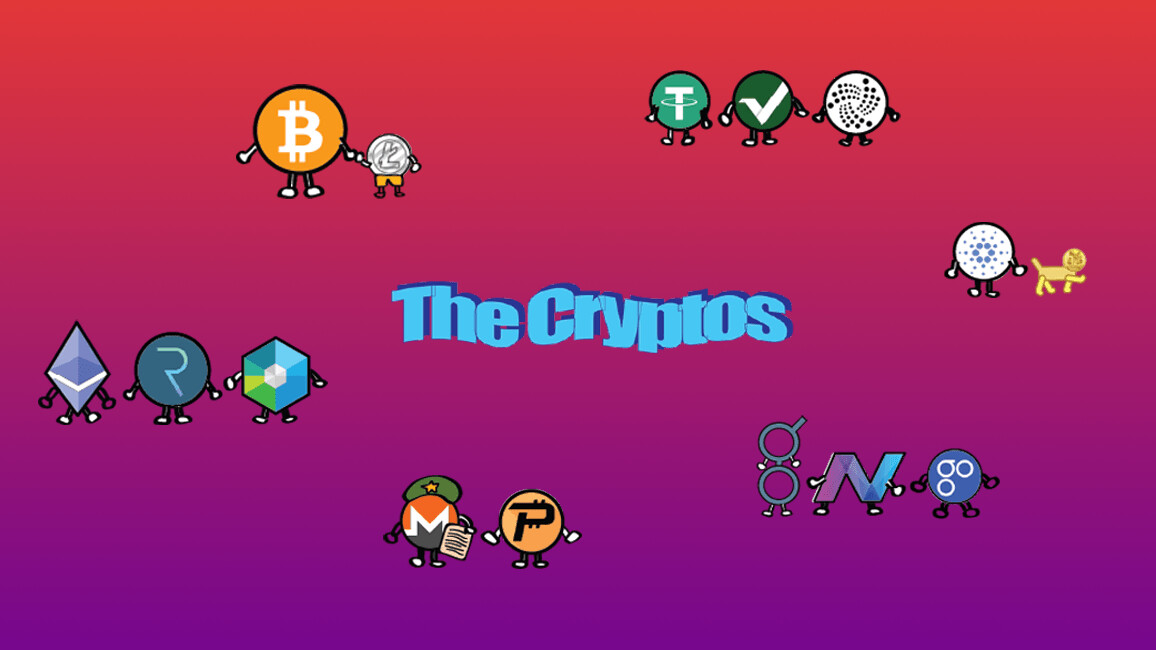 The Cryptos is a witty comic strip that pokes fun at cryptocurrencies