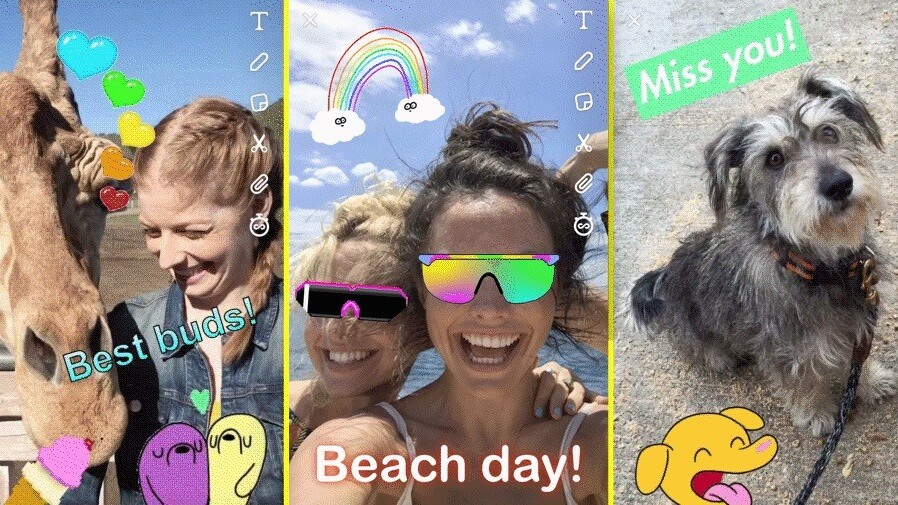Snapchat copies Instagram for once, adds gif stickers