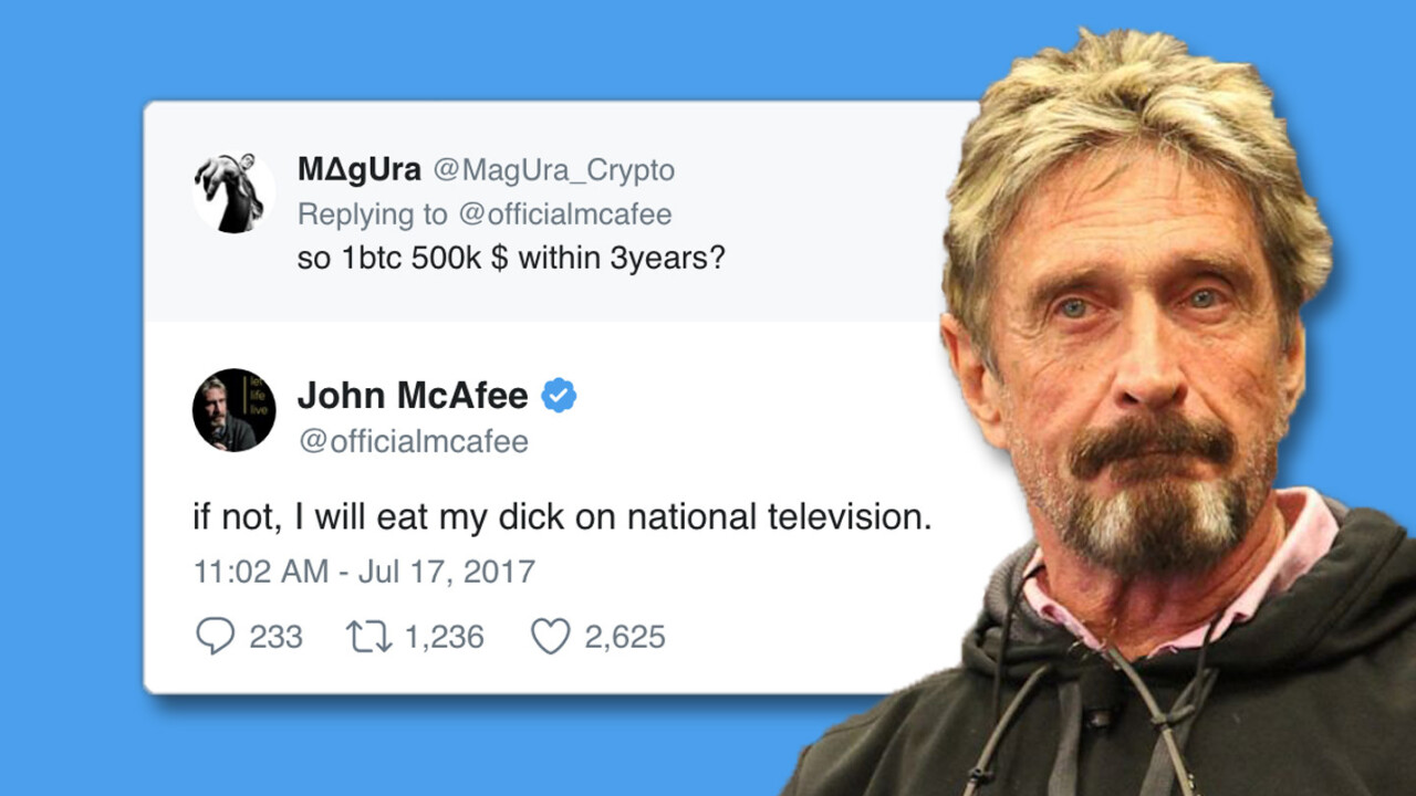 These are the wines that pair best with dick, John McAfee
