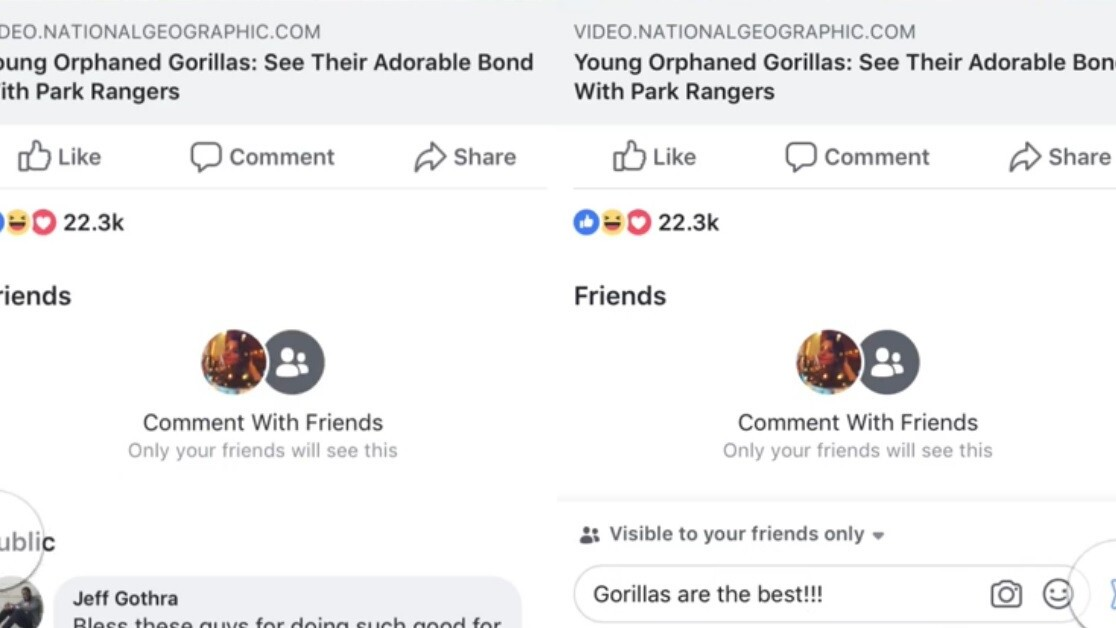 Facebook test gives users a private comment option for public posts