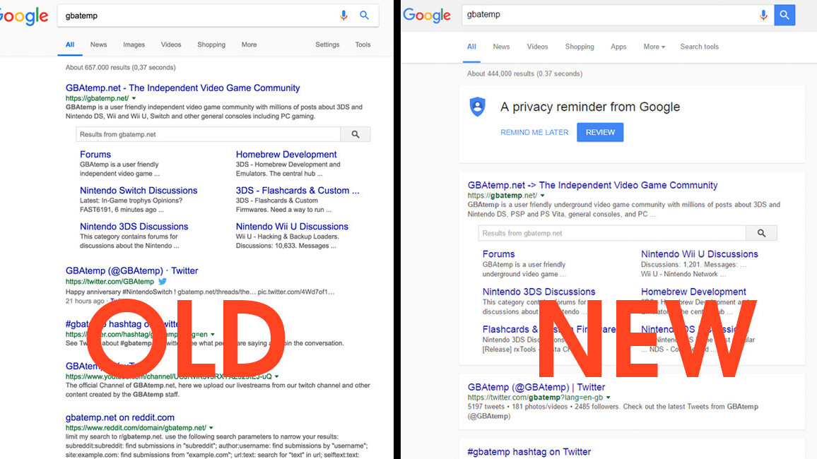 Google is testing a new Material Design layout for Search