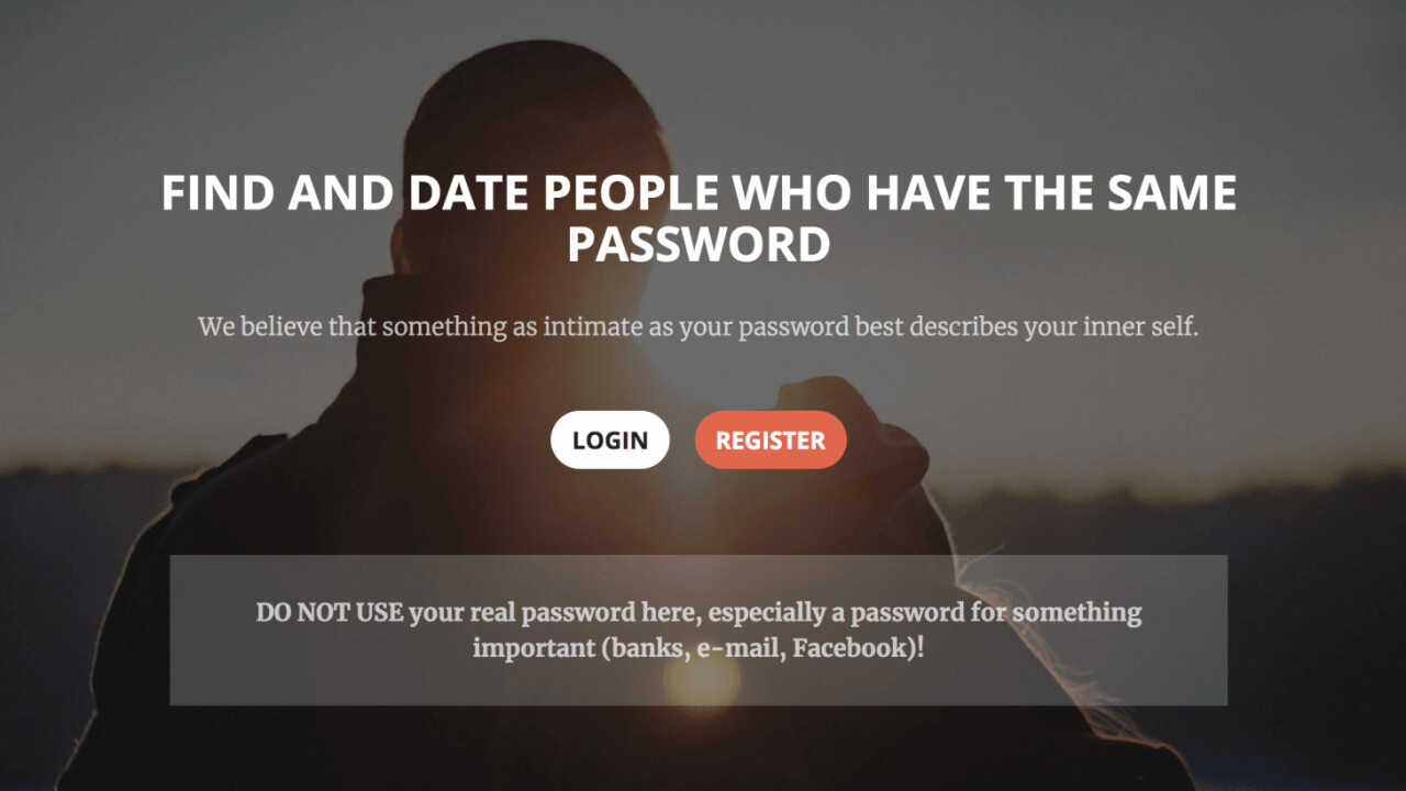 This dating site matches people based on their shared use of awful passwords