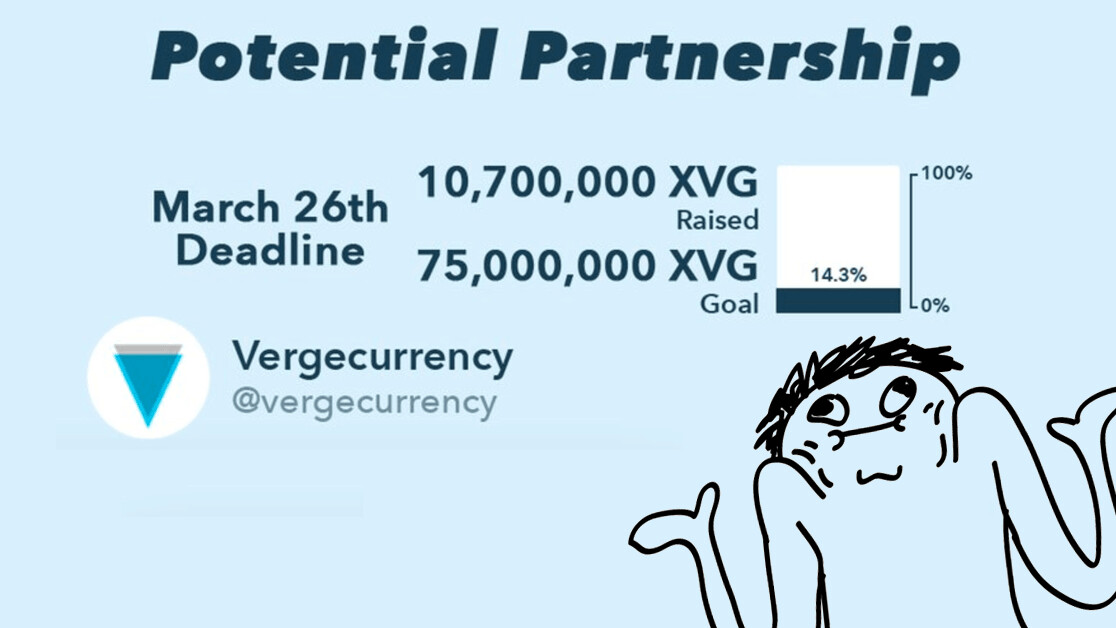 Verge cryptocurrency asks users for $3M to reveal a 'potential partnership'