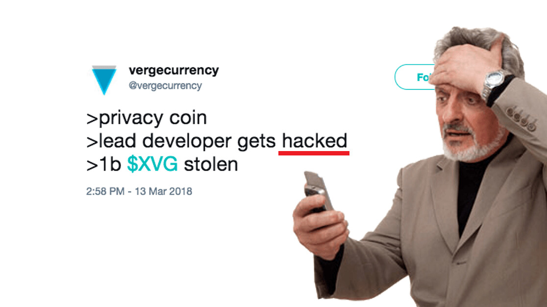 Privacy-oriented cryptocurrency Verge (XVG) got its Twitter hacked