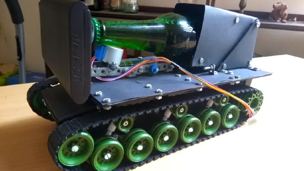 We salute the developer who created an Alexa-controlled robot tank to deliver his beer