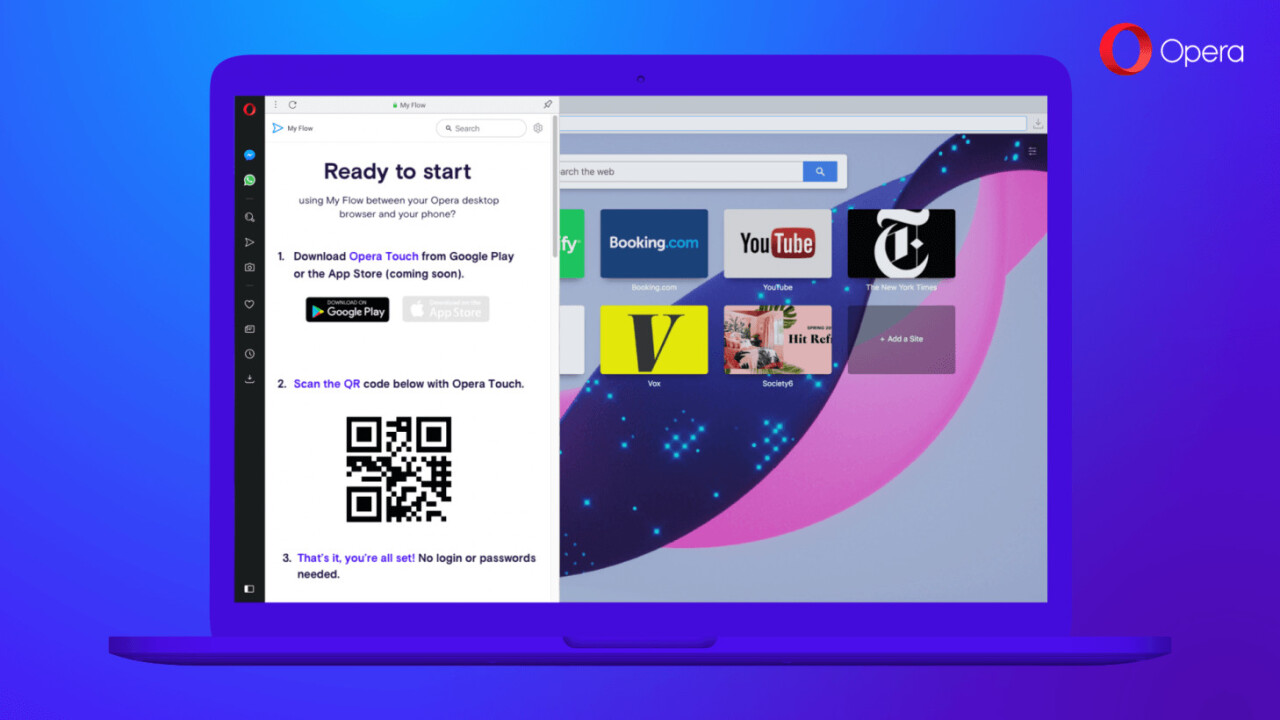 Opera now lets you beam content from your phone to your desktop