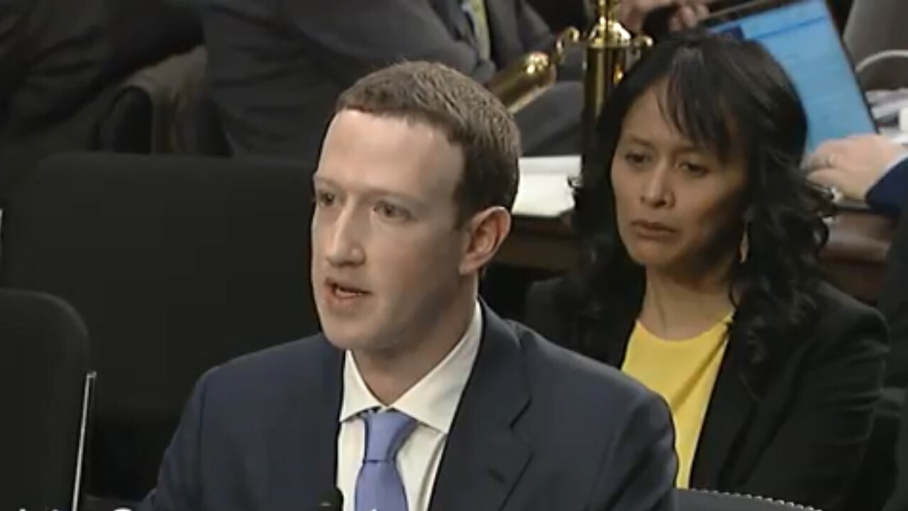 Zuckerberg's Senate hearing notes included a dig at Apple