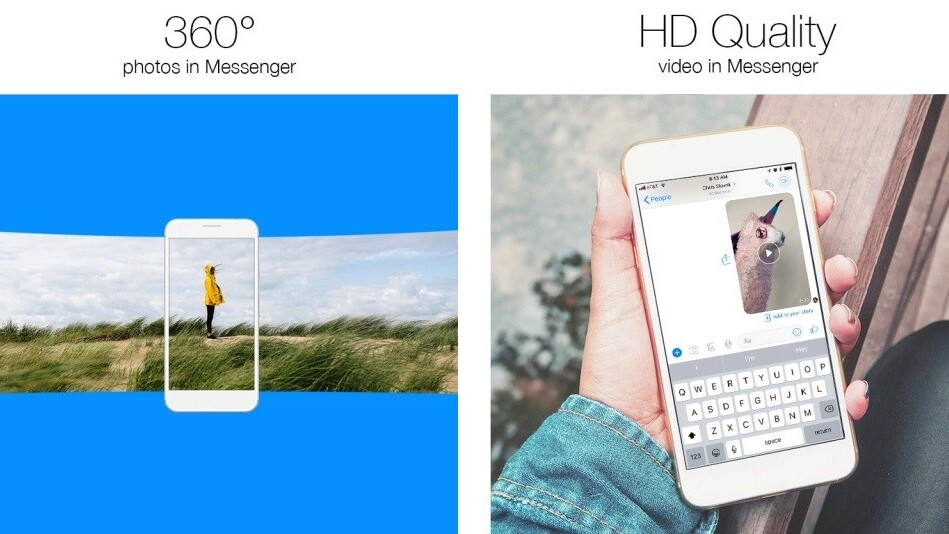 Facebook adds 360 photos and HD videos to Messenger