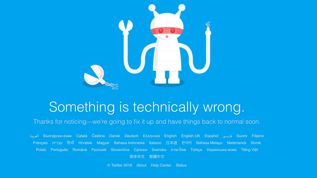 Twitter is down for many users [Update: It's mostly back]