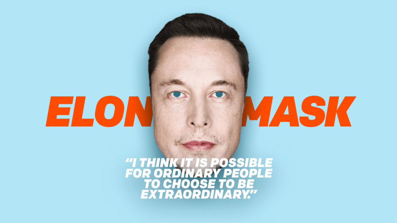 Full-sized Elon Musk masks aren't a flame thrower, but they'll do in a pinch