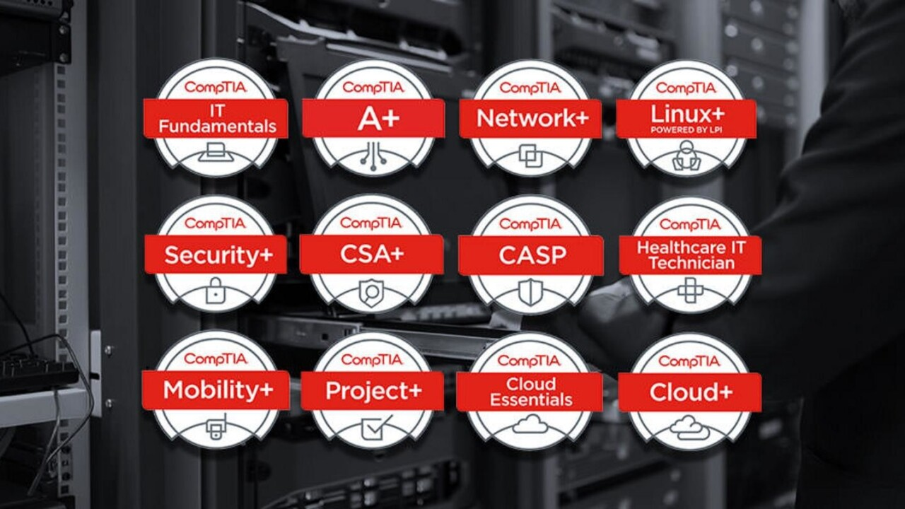 Get the tech certifications that matter most in IT with this CompTIA bundle