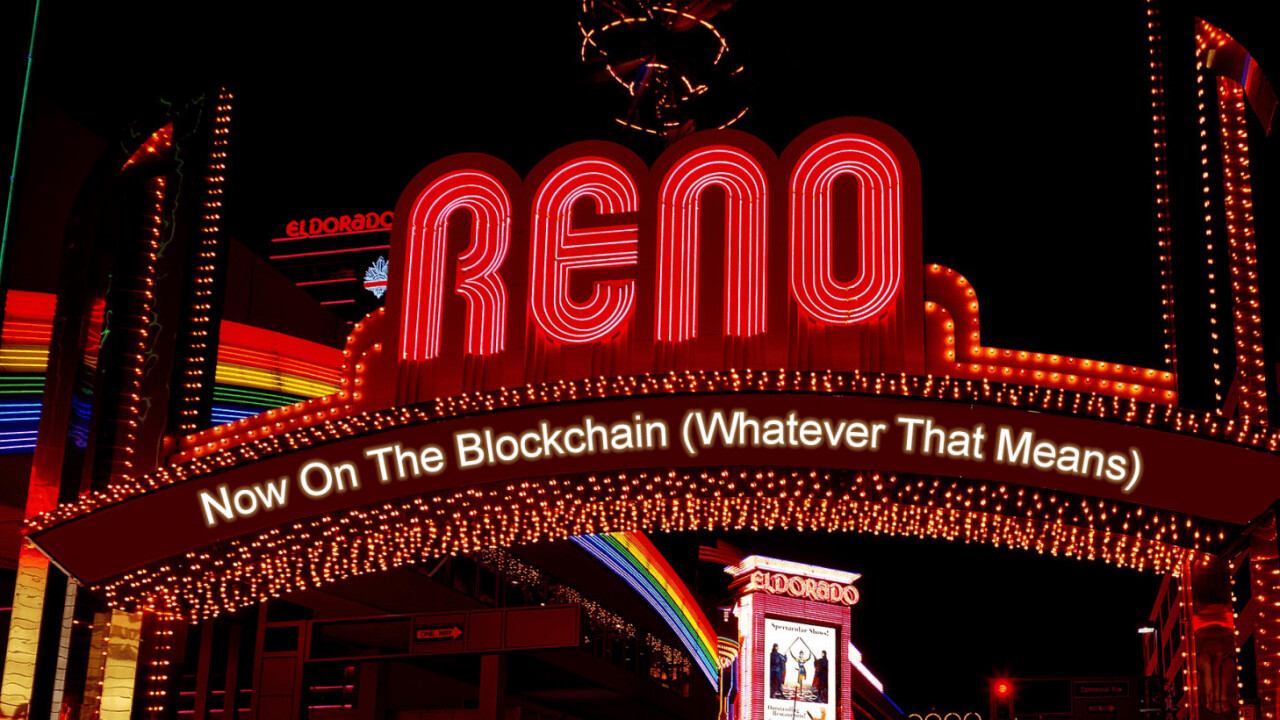 Reno aims to make marriage blockchain official