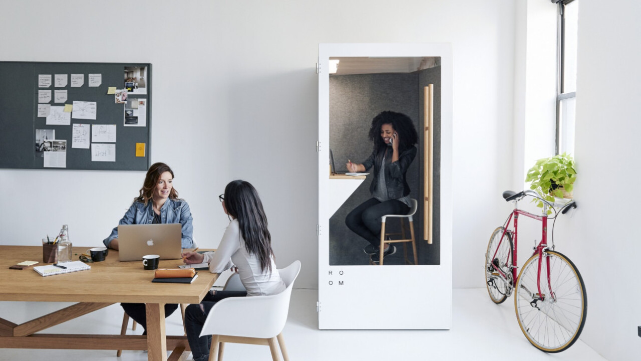 This eco-friendly phone booth solves the biggest problem with open plan offices