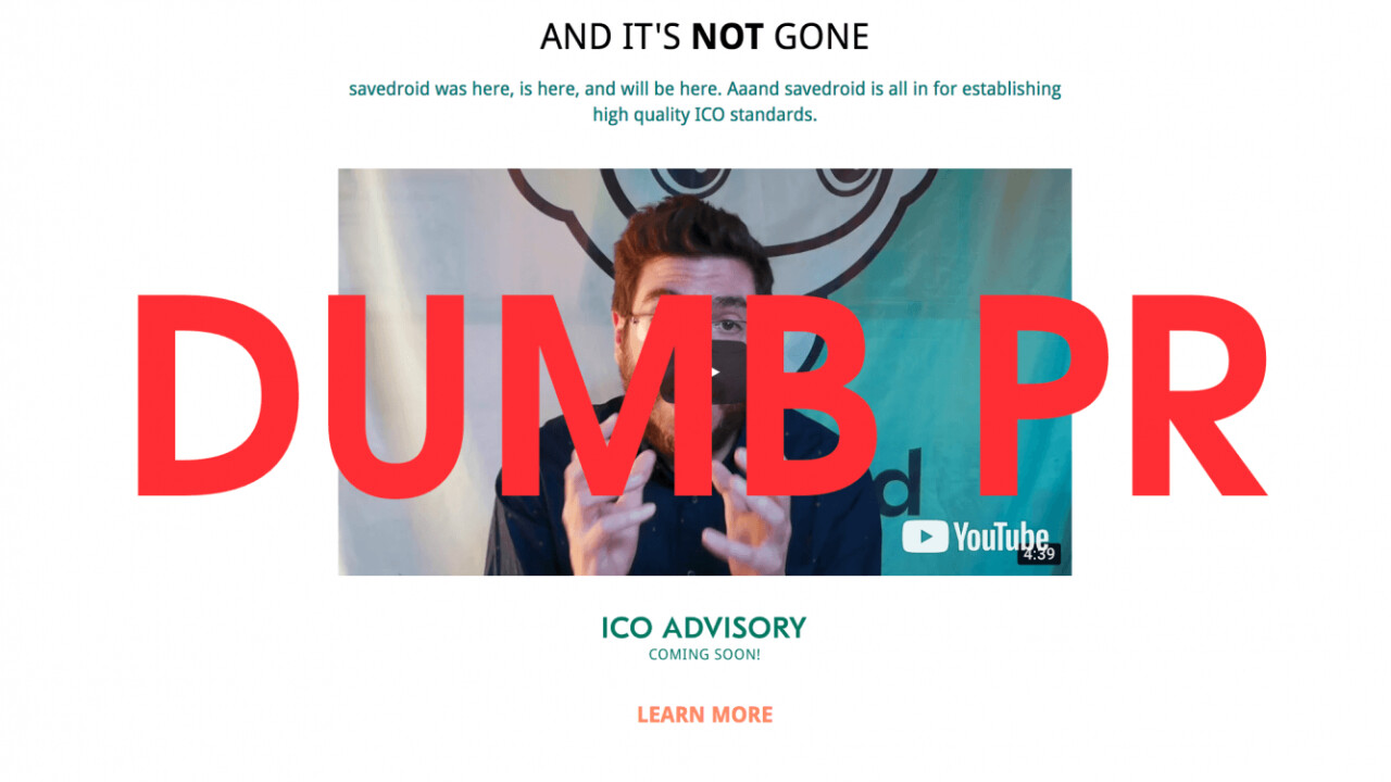 Savedroid ICO's exit scam was actually a very dumb PR stunt