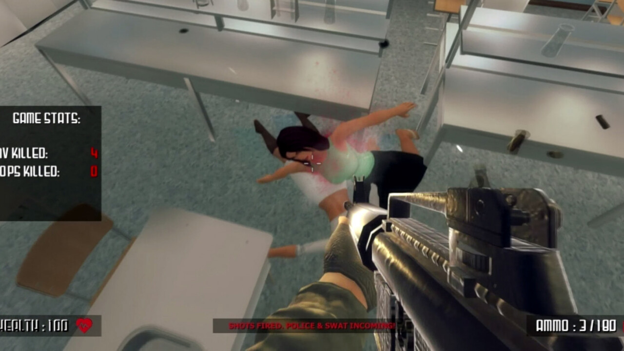 People are outraged by this school shooter game for all the wrong reasons