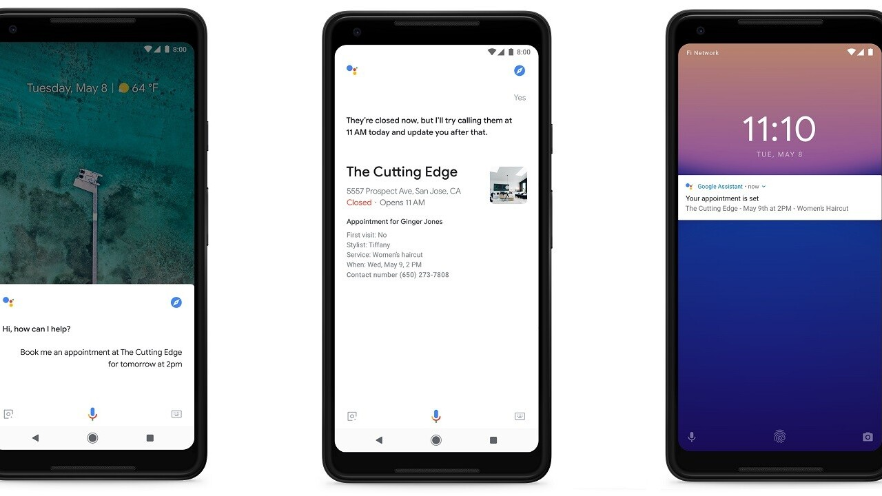 Google Assistant now schedules your appointments with a phone call