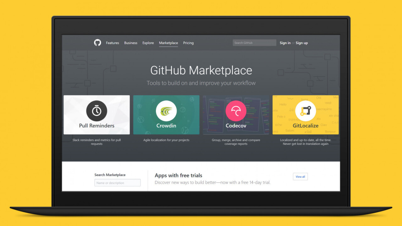 Developers can now upload apps to the Github Marketplace for free