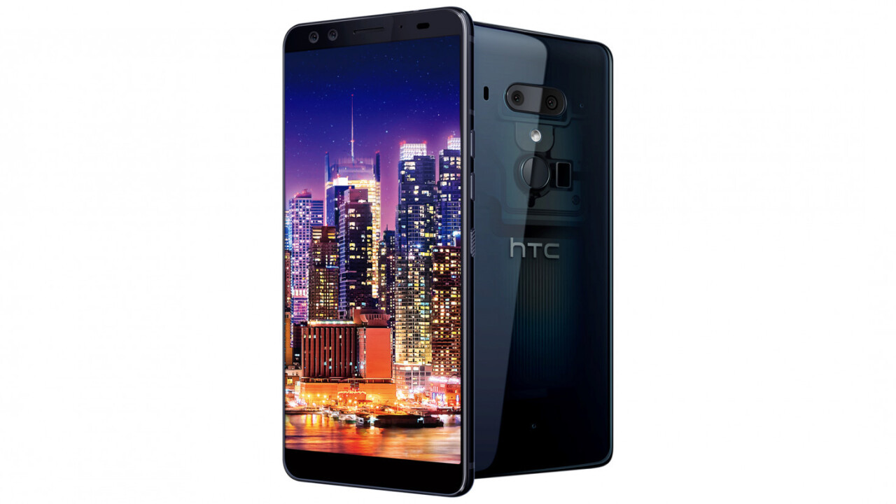 HTC's notch-less U12+ gets 4 cameras and a squeezable body