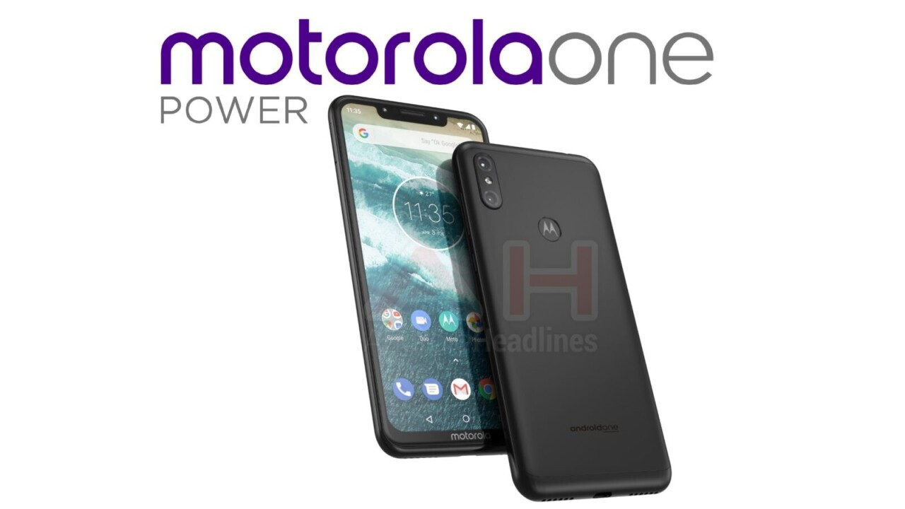 Leak: Motorola One Power brings the notch to Android One