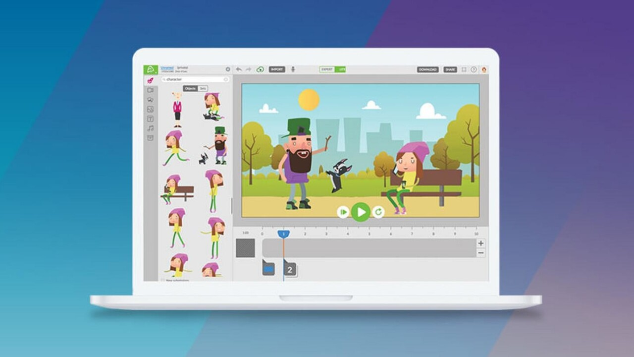 Wanna make animations, but don't have art or coding training? No problem with Animatron